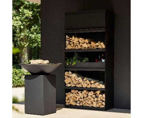 Wood Storage 100 Corten Black Ofyr
