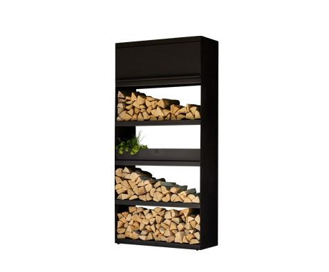 Ofyr Wood Storage 100 Corten Black